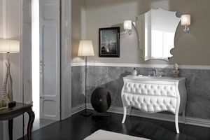 VANITY CAPITONN�, Quilted decorated bathroom cabinet