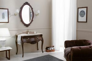 VANITY CARVED 02, Classic style cabinet with sink