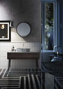 Washbasin base Coco 028/1, Bathroom cabinet with sink, marble top
