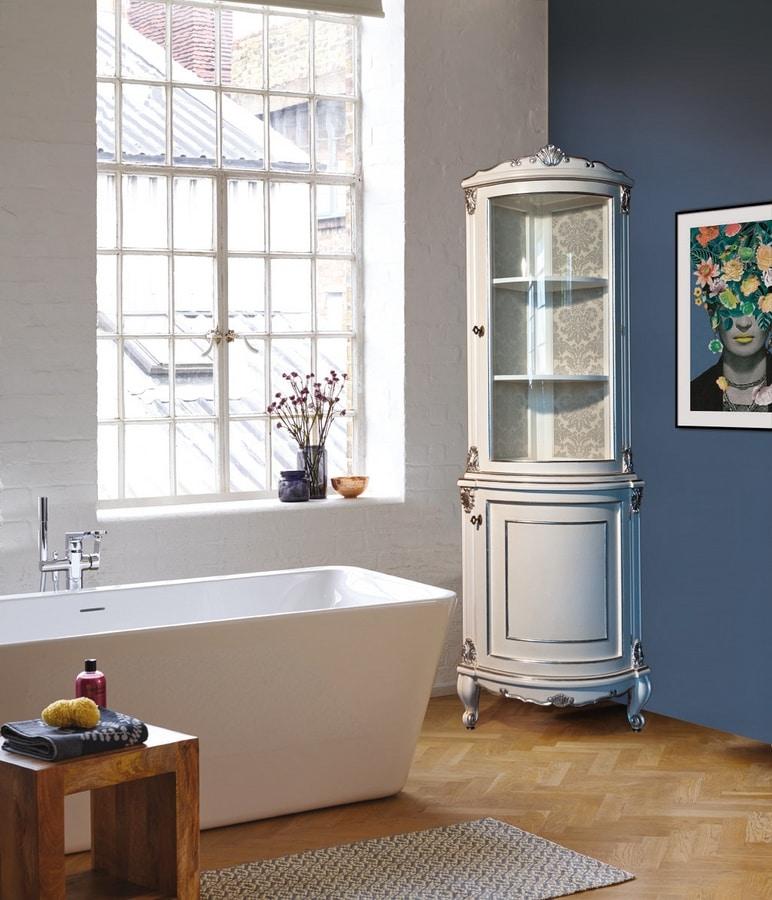 Art. 2763 Elodie, Corner bathroom cabinet in classic style