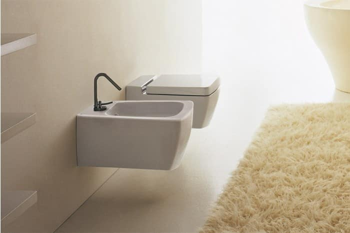 Wall Hung Wc And Wall Hung Bidet With Soft Close System Idfdesign
