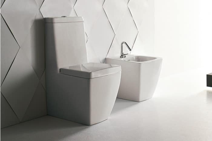 Wc And Bidet Made Of Ceramic Compact Size Idfdesign