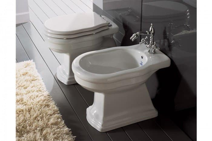 Wc Made Of Ceramic With Bidet And Toilet Seat Idfdesign