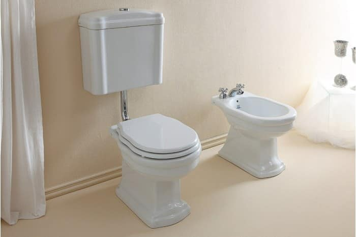 Wc with low level cistern, seat cover and bidet | IDFdesign Bidet Wc on