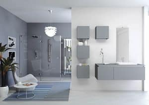 Plane 2D 02, Composition for bathroom, with wall units