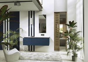 Quaderno1 3D comp.3, Bathroom furniture, matt lacquered