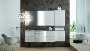 Round AM 119, Furniture with glossy finishing, ideal for modern bathrooms
