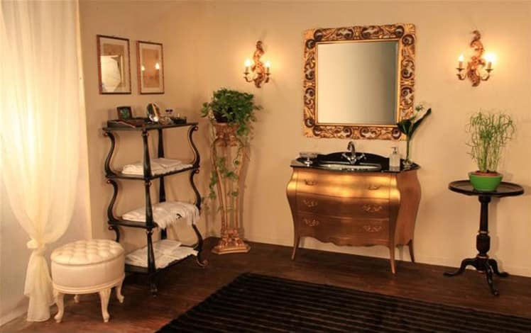 Art. 3110, Furniture made of solid wood bathroom, glass top