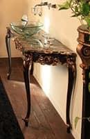 Art. 901-SH Clara, Bathroom furniture, made of beech wood, marble top