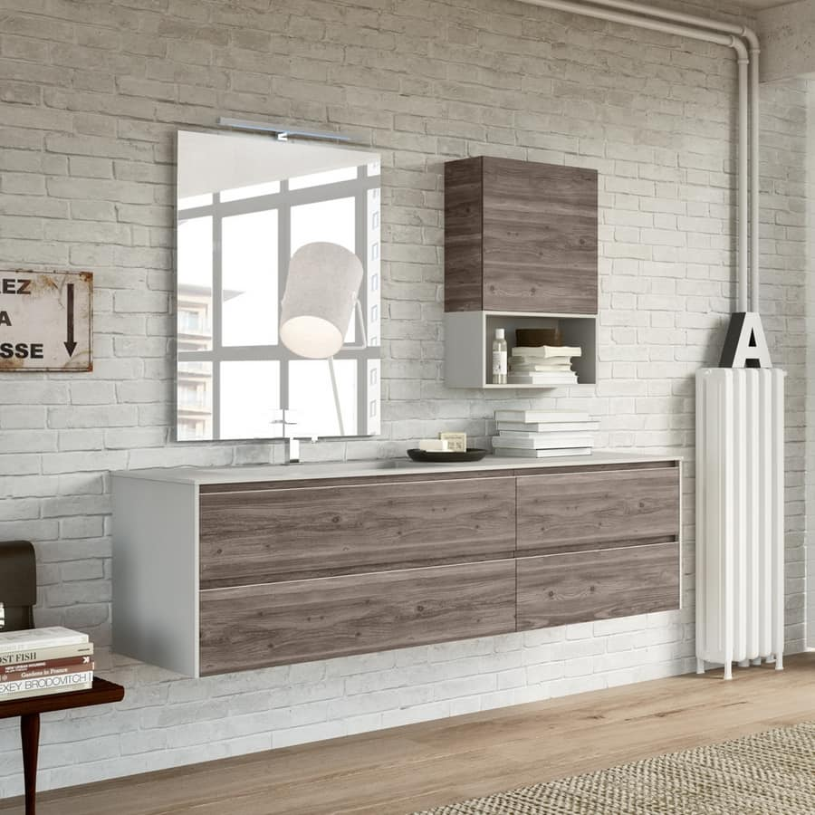 Bathroom furniture, available in various finishes, for bars