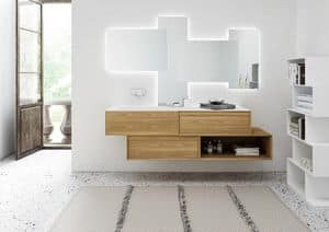 Class 07, Furniture for bathroom, with integrated washbasin in Tecnoril