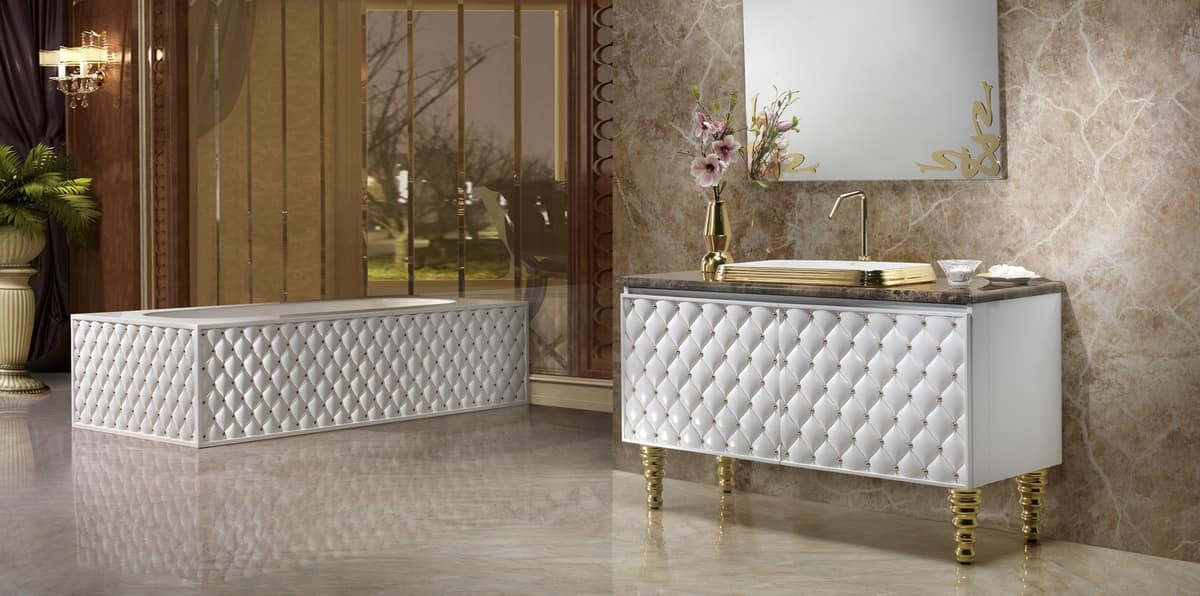 CLASS FURNITURE, Quilted furniture for bathroom with drawers