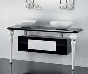 DECO FURNITURE, Furniture for bathroom with legs in ceramic