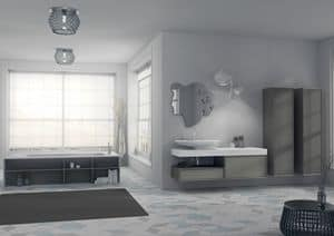 Quaderno2 DO 11, Bathroom furniture, with original mirror and sink