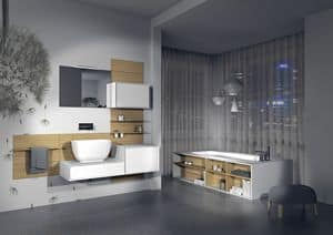 Domino 12, Bathroom furniture, customizable, various finishes