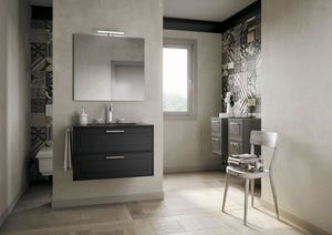 Dressy comp.03, Elegant bathroom cabinet with drawers