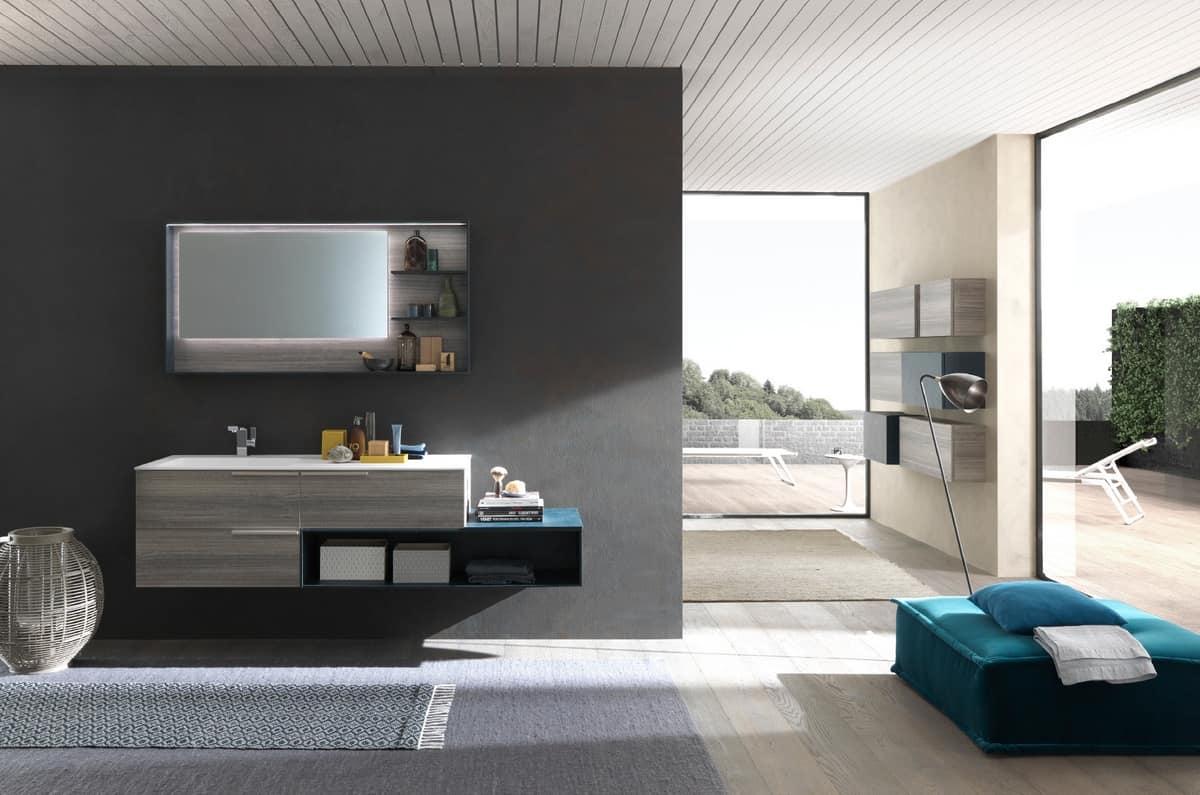 Lime Ø Comp.46, Elegant Bathroom Furniture, With A Minimal Design