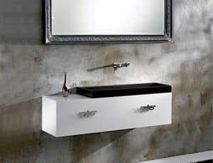 M35 FURNITURE, Furniture for bathroom, matt or brilliant finishing