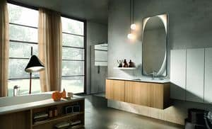 Maia 303, Bathroom furniture made of wood and marble
