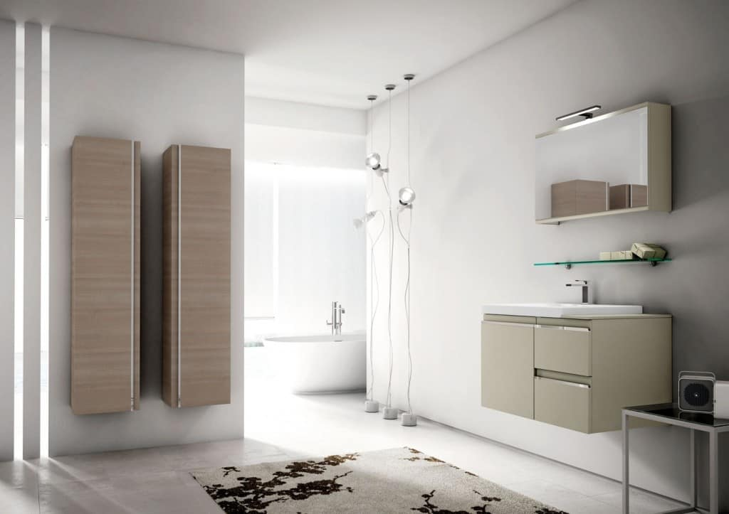 Superieur Mistral Comp.07, Bathroom Furniture With Large Hanging Containers