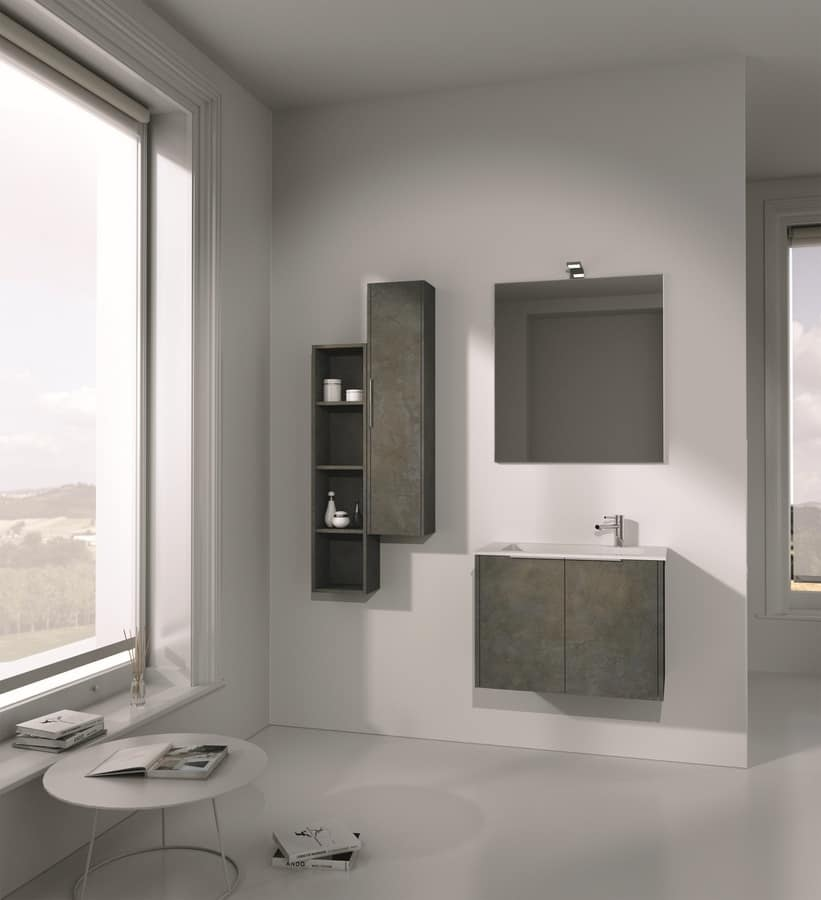 Singoli S 01, Bathroom furniture, with integrated sink