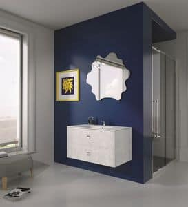 Singoli S 12, Compositiion for modern bathroom, chrome handles