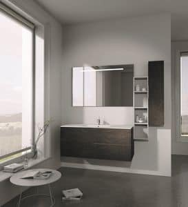 Singoli S 20, Bathroom furniture, with simple lines