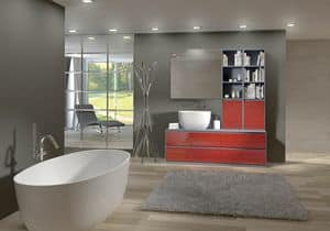 Torana TR 009, Bathroom furniture with sink and library