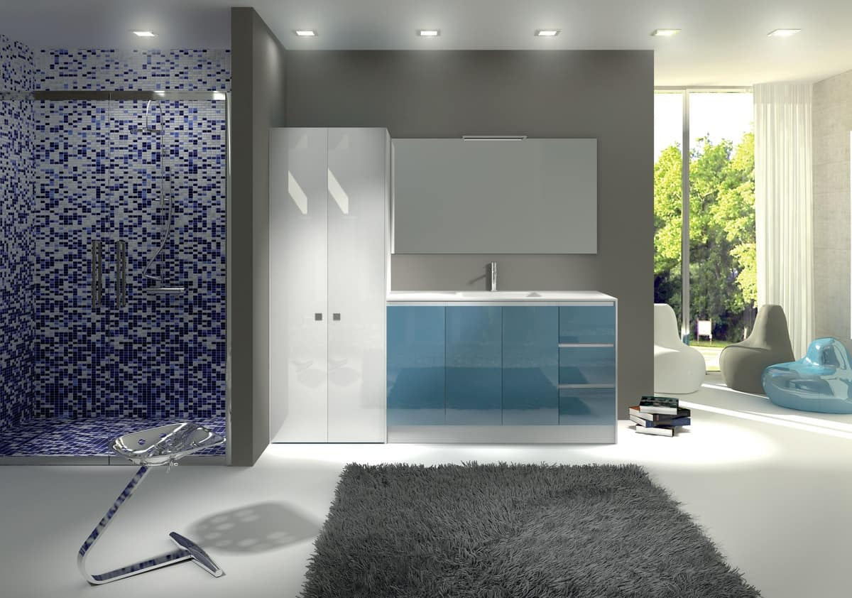 TR 012, Furniture with sink, top with concrete finishing