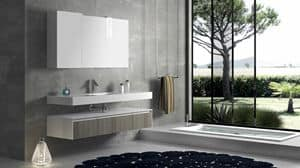 Torana TR 007, Bathroom composition with frontal tranche finishing