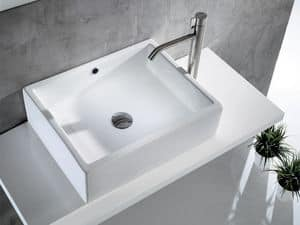 BOLD CASE BASIN, Washbasin in ceramic with big edges