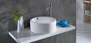 BOLD RING BASIN, Washbasin in ceramic with big edges