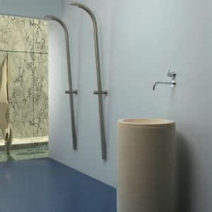 Buoro 1 & Buoro 2, Cylindrical washbasin in Portuguese stone