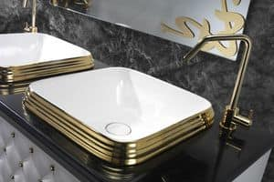 CLASS QUADRO BASIN, Luxury washbasin in ceramic