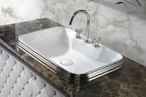 CLASS RECTANGULAR BASIN, Luxury washbasin in ceramic