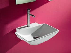 FINE DINGHY BASIN, Small washbasin in ceramic