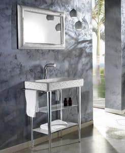 FUSION DECO BASIN, Washbasin with consolle