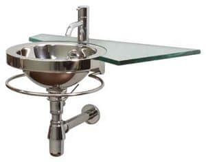 Handaqua, Circular steel sink with polished finish