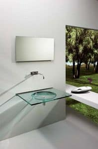 Nost, Wall sink, made of transparent glass