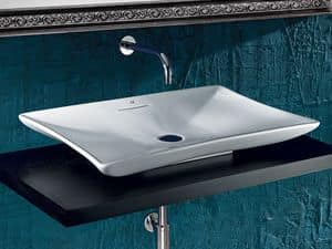 OASIS BASIN, Countertop washbasin in ceramic