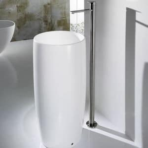 PILLAR ONE BASIN, Freestanding washbasin in ceramic