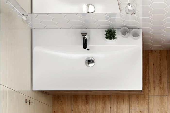 Ceramic Sink With Overflow IDFdesign - Bathroom sink set up