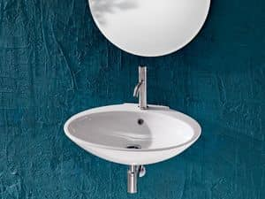 SLIM BASIN, Washbasin in ceramic