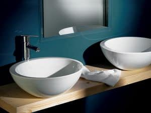 SPOT SOLEIL BASIN, Large washbasin in ceramic