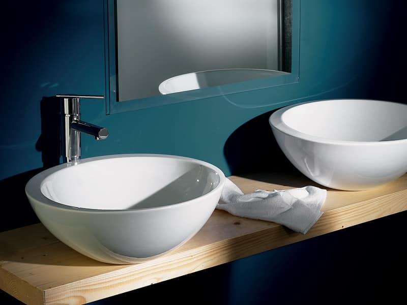 SPOT SOLEIL BASIN, Large washbasin in ceramic