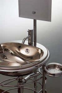 Starck - Lola Herzburg, Chrome-plated brass washbasin, with mirror