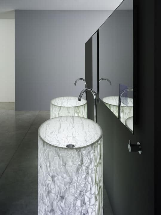 Free Standing Sink In Alicrite With Internal Light Idfdesign