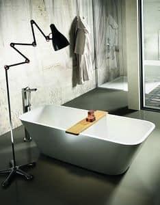 Alfa, Rectangular bathtub, with rounded corners