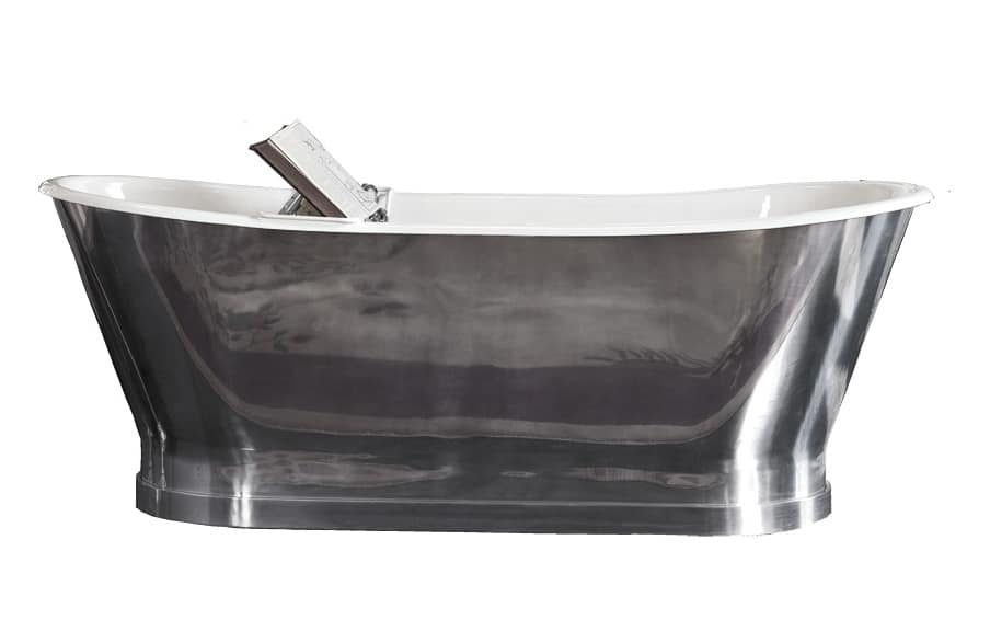 classic style bathtub, clad in copper or aluminum | idfdesign