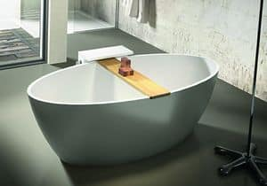 Space, Bathtub with accessories holder
